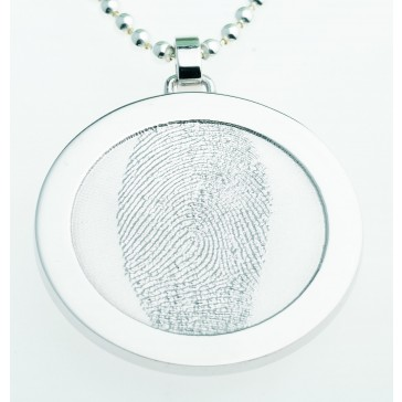 Coin M silver 31 mm with eyelet